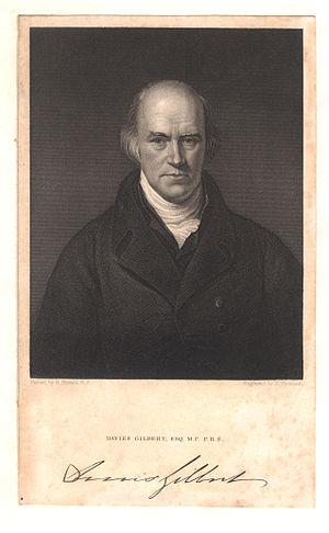 Davies Gilbert - Image: Davies Gilbert with signature