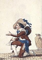 Dazincourt als Figaro in Le barbier de Séville (1786) (Quelle: Wikimedia)