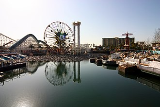 Paradise Pier - Paradise Pier during World of Color construction in 2010.