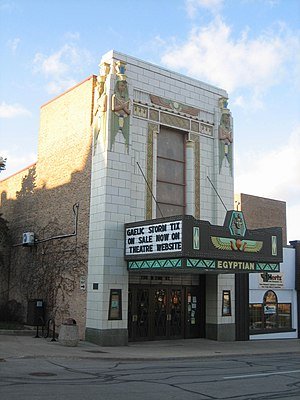National Register of Historic Places listings in DeKalb County, Illinois - Image: De Kalb Egyptian 7