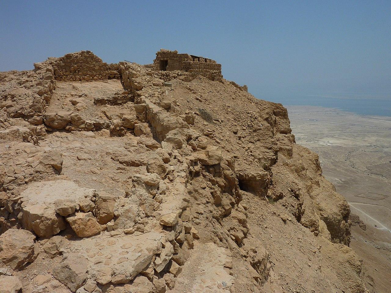 Masada - die Kasemattenmauer des Herodes - vergrößerbar