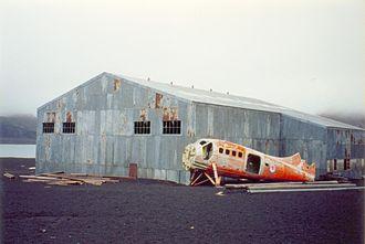 Deception Island - The derelict hangar
