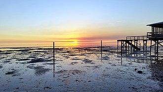 Dekle Beach, Florida - A summer sunset at Dekle Beach.