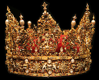 Monarchies in Europe - The crown of Christian IV, part of the Danish Crown Regalia