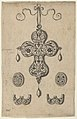 Design for the Verso of a Cross-Shaped Pendant Above a Pair of Oval Ornaments and Axe-Shaped Ornaments MET DP837399.jpg