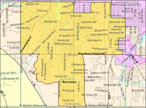 Boardman, Ohio - Image: Detailed map of Boardman, Ohio