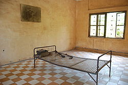 Detention and torture room, Security Prison 21 (S-21), Tuol Sleng Genocide Museum, Phnom Penh, Cambodia.jpg