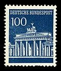 1967年西德发行的勃兰登堡门100芬尼邮票。