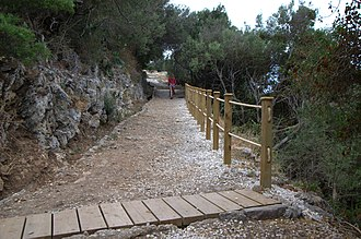 Footpaths of Gibraltar - Image: Devil's Gap Footpath 1