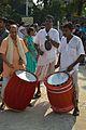Dhak and Kanshar Players - Durga Idol Immersion Ceremony - Baja Kadamtala Ghat - Kolkata 2012-10-24 1442.JPG