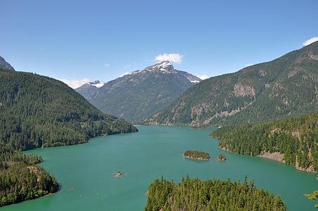 Diablo Lake, Washington state, USA