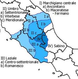 Romanesco dialect - Image: Dialetti italiani centrali