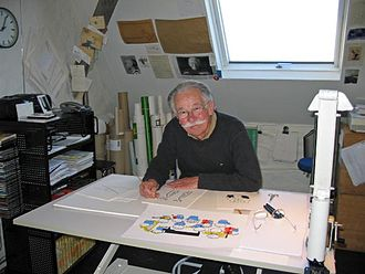 Dick Bruna - Bruna in his studio in 2007