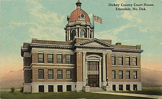 Dickey County, North Dakota - Image: Dickey County Courthouse (Ellendale, ND)
