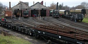 Didcot Railway Centre - General view, including engine sheds, of part of the site