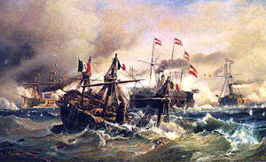 Regia Marina - The Sea Battle of Lissa, by Carl Frederik Sørensen, 1868