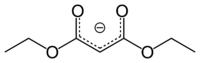 L'anione del malonato di etile, stabilizzato per risonanza