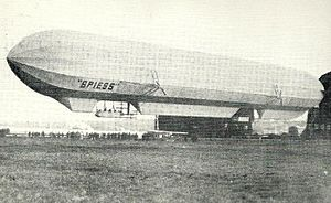 Rigid airship - The extended Spiess airship in 1913