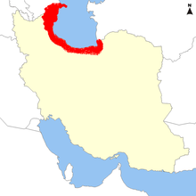 Distribution of Bufo eichwaldi in south east Azerbaijan and northern Iran.png