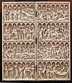 Dittico con l'incoronazione della vergine e crocifissione, magonza (forse), 1365-80 ca.jpg