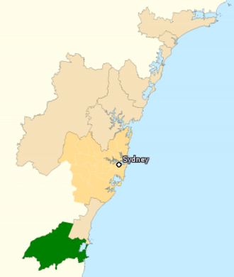 Division of Whitlam - Division of Whitlam in New South Wales, as of the 2016 federal election.