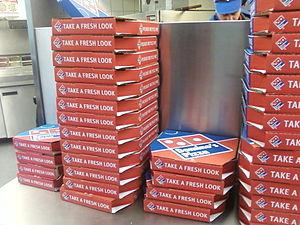 Русский: Коробки для пиццы.