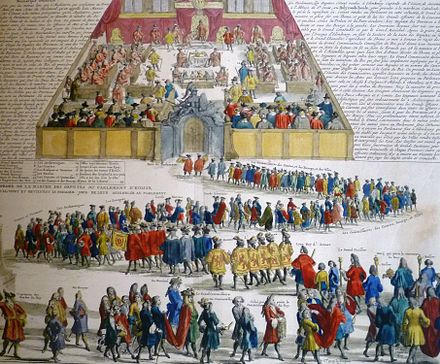 18th-century French illustration of an opening of the Scottish Parliament Downsitting of the Scottish Parliament detail.JPG