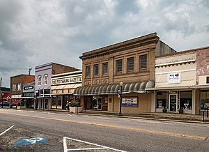 National Register of Historic Places listings in Camp County, Texas - Image: Downtown Pittsburg 1 (1 of 1)