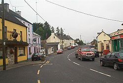 Looking north - up 'Main Street' - on the Cavan side