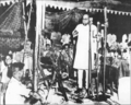 Dr Babasaheb Ambedkar addressing the World Buddhist Conference held at Rangoon (Myanmar). V.V. Giri Indian High Commissioner and Dr. Savita Ambedkar are seen (December, 1954).png