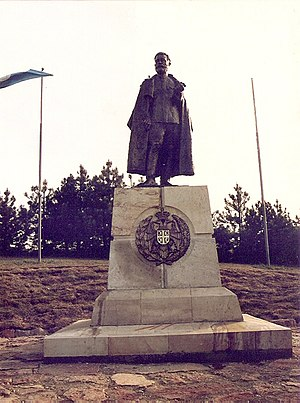 Operation Mihailovic - Image: Draža Mihailović Monument on the Ravna Gora (1992)