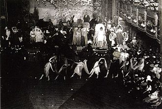 Cross dressing ball - Drag ball from the 1920s, celebrated in the Webster Hall, Greenwich Village, in New York