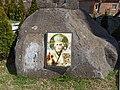 Dragovishtitsa Sofia Province stone with icon.jpg