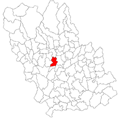 Location of Dumbrăveşti