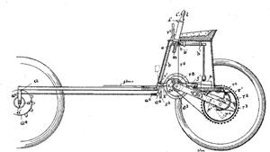 Davidson-Duryea gun carriage - Image: Duryea motor vehicle patent 653224 diagram excerpt crop