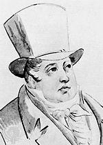 Jan Ladislav Dussek, detail of a drawing by Pierre Condé. (Source: Wikimedia)