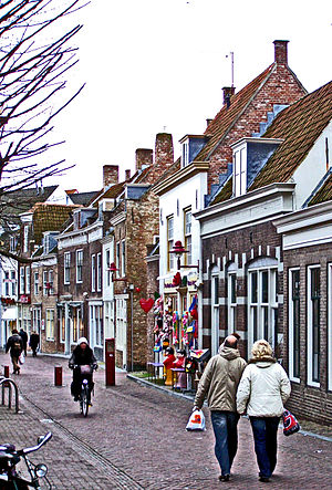 Dutch people - A typical November scene in the Dutch town Middelburg, Netherlands