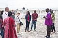 Dzifa Gomashie and Anthony Foxx delegation at Cape Coast Castle.jpg