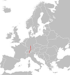 Europavej 43's strækning