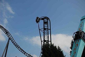 Saw – The Ride - Image: EF Thorpe Park 0539