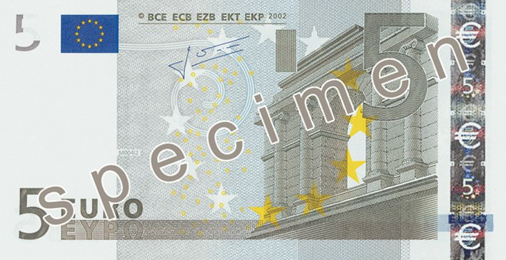 EUR 5 obverse (2002 issue)