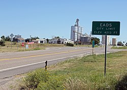 Eads from the west on State Highway 96.