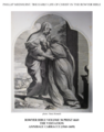 Early life of Christ in the Bowyer Bible print 3 of 21. visitation of Mary to Elizabeth. Carracci.png