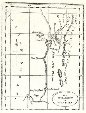 History of Western Australia - Early map of the Swan River colony