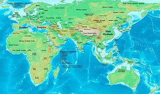 1st century - Eastern Hemisphere in AD 50, in the middle of the first century