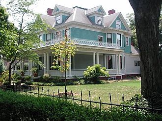 High Point, North Carolina - Queen Anne Ecker House of 1908 in High Point