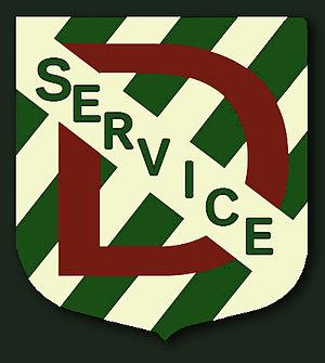 Service D - Image: Ecusson ddu service D