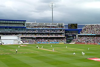 Cricket in England - Edgbaston Cricket Ground in Birmingham, one of the premier cricket grounds in England and Wales.