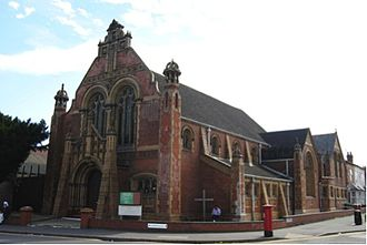 Religion in England - A Baptist church in Birmingham, West Midlands.