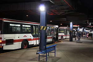 Eglinton station - New bus bay area is located at ground level under the Canada Square building